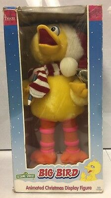 1998 SESAME STREET BIG BIRD ANIMATED CHRISTMAS DISPLAY FIGURE. New.