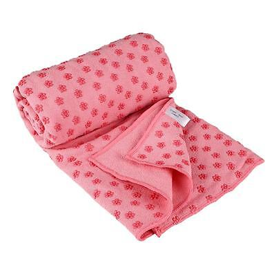 Yoga Towel Plum Anti-Slip Quick-dry Mat Cover Pilates Blanket with Carry Bag