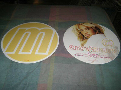 MANDY MOORE-(debut)-1 POSTER-2 SIDED-12X12 CIRCLE-NMINT-RARE