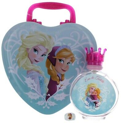 Frozen by Disney, 3.4 oz EDT Spray for Girls with Metal Lunch Box