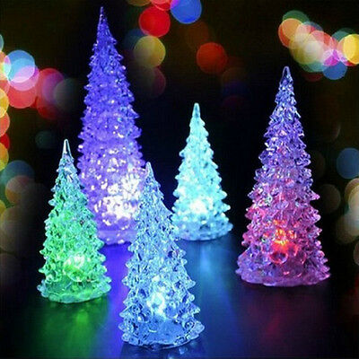 Crystal Christmas Tree LED Table Lamp Light Decoration Xmas Festival Party Gift