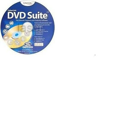 Cyberlink dvd Suite V5 for windows White Sleeve Brand New