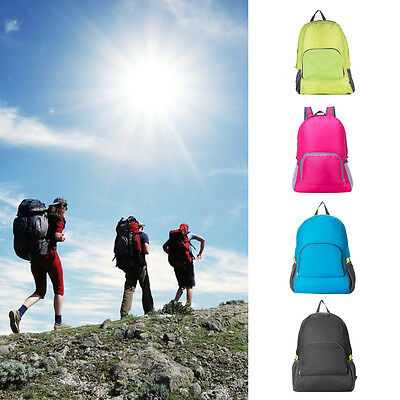 Outdoor Unisex Sports Waterproof Foldable Backpack Hiking Bag Camping Rucksack