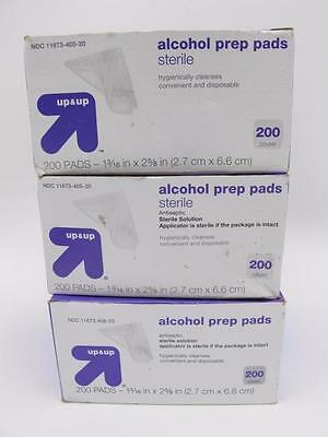 3x Lot 600 Individual Hospital Grade ALCOHOL PREP PADS Antiseptic Sterile Wipes