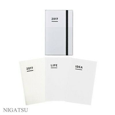 NEW Kokuyo Jibun Techo 2017 3 in 1set (DIARY LIFE IDEA) Nov start B6 slim white