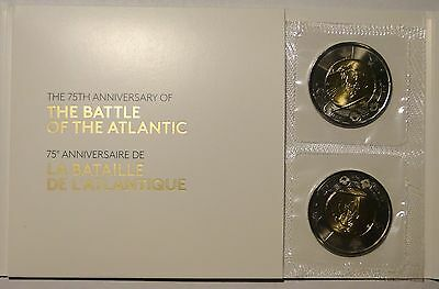 BU UNC Canada 2016 75th anniv Battle of Altantic toonie mint sealed 5-coin pack