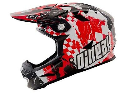 Oneal 2017 Airtech At-1 Bicycle Bike Full Face Helmet Checkered Flag