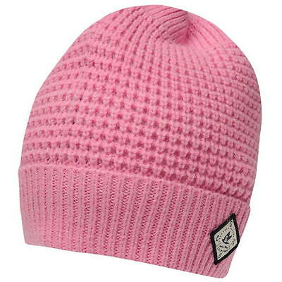 ff59035110e Ladies Womens Soulcal Pink Woolly Knit Knitted Ski Skiing Flake Beanie Hat