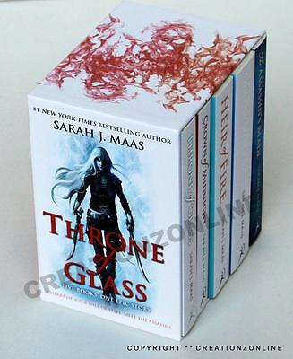 Sarah J Maas  Throne Of Glass 5 Books Boxed Set Brand New Queen Of Shadows