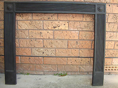 FIREPLACE METAL FASCIA/SURROUND ,91CM X 65CM, PICK UP 2766 Rooty Hill nsw