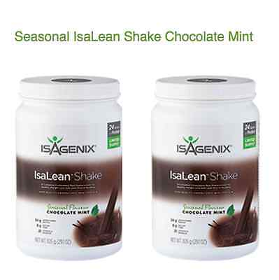 FREE POST Isagenix IsaLean Hi Protein CHOCOLATE MINT Shake Canister 2