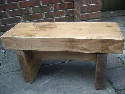 Chunky Stool, Reclaimed, Antique Pine, Free Delivery!