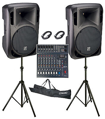 "Studiomaster Drive 15"" 10 Channel 2400W Active Band PA System"