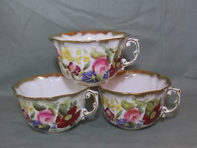 3 Vintage Hammersley Queen Anne Tea Cups All A/F  Pattern 13166