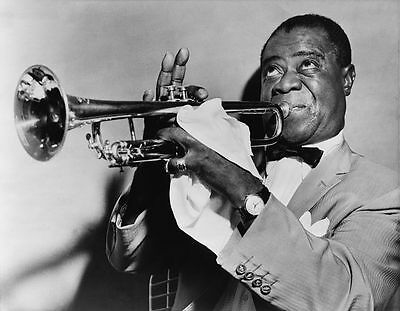 Louis Armstrong Jazz Trumpet Player 10x8 Glossy Promo Music Photo Print Picture