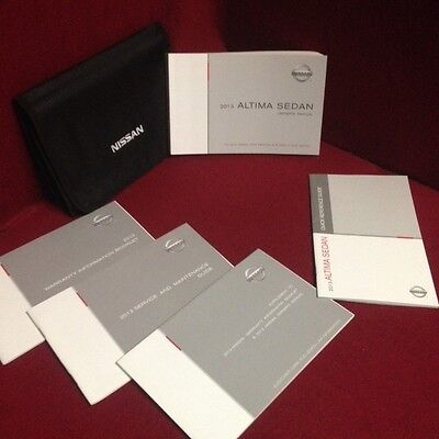 2013 Nissan Altima Sedan Owners Manual set w/ warranty & guide and case