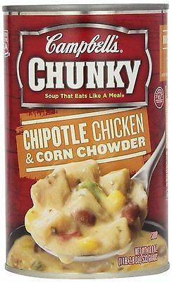 Campbell's Chunky Soup Chipotle Chicken & Corn Chowder 18.8 Ounce (Pack of 12)