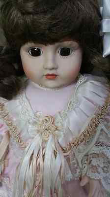 """Beautiful Gorham 1990 15"""" Doll with Gorgeous Dress"""