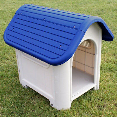 Pet Puppy Weather Proof Plastic Kennel Dog House Indoor Outdoor Animal Shelter