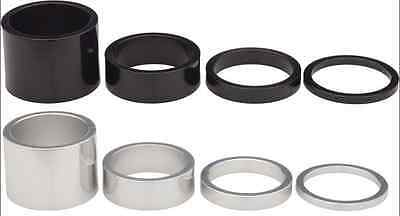 "Bike Headset Spacers 1"" 1 1/8"" 2 3 5 8 10 15 20 alloy black white washer spacer"