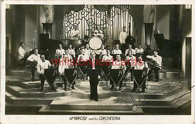 Real Photographic Signed Postcard Of Ambrose And His Orchestra