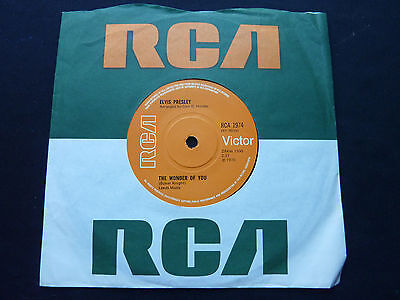 "Elvis Presley RCA 1974 The Wonder of You  UK RCA 45 7"" 1970 NMint"