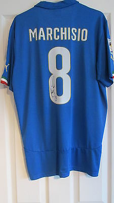 """hand signed """" Claudio Marchisio - Italy """" Home Shirt WITH COA"""