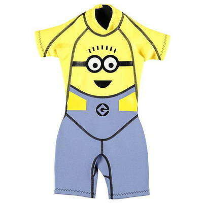 Despicable Me Minions Shorty Wetsuit Childrens  size 5-6 years