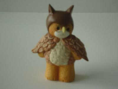 LUCY & ME Owl Bear wearing glasses  ~ Enesco Lucy Rigg 1991