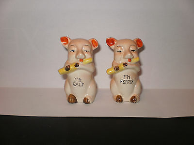 Vintage Pig Salt N Pepper Shakers  1941
