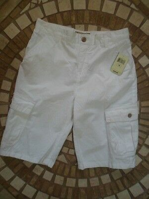 LUCKY BRAND Authentic NWT White KIDS BOY'S Youth Dress Casual Cargo Shorts sz 16