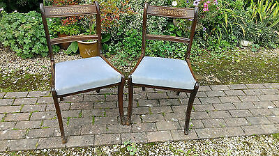 Pair  Of  Sabre Legged  Side  Chairs