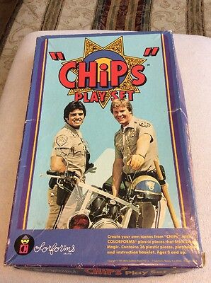 Vintage TV Show Chips Colorforms Play Set 651 Metro-Goldwyn-Mayer 1981