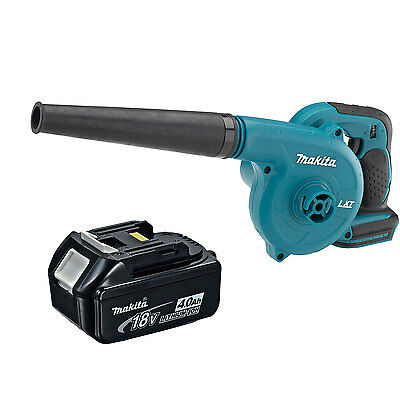 Makita DUB182Z 18V Cordless Blower and BL1840B 4.0 Ah Battery with Indicator