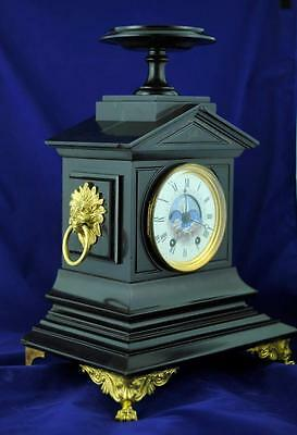 RARE FRENCH  MOONPHASE MANTEL CLOCK - Small size