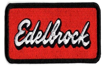 Edelbrock racing patch edelbrock applique patch Iron/Sew on
