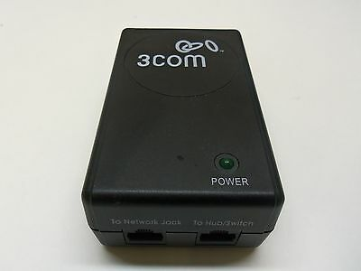 3Com POE Power Injector PW130 (48V 420mA) Complete with UK Figure 8 Power Lead