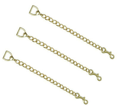 """New Zilco Lead Chain BRASS plated 46cm 18"""" Horse dog cow nose chin chain"""