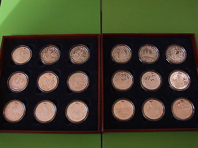 History Of The Royal Navy Five 5 Pound Coloured Silver Proof 18 Coin Collection