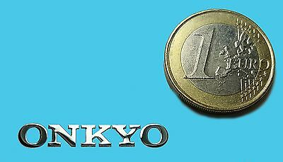 ONKYO METALISSED CHROME EFFECT STICKER LOGO AUFKLEBER 30x5mm [390]