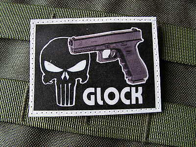 Patch Velcro - GLOCK 17 18 19 23 26 - PUNISHER US ARMY AIRSOFT TIR ISTC NTTC