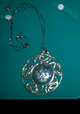 Antique! Sterling Silver Ancient 2000 Year Old Holy Land Glass Pendant&chain Ec