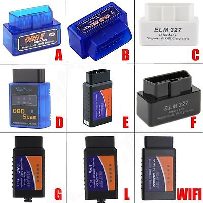 ELM327 V2.1 OBD2 CAN-BUS Bluetooth WIFI Car Auto Diagnostic Interface Scanner BE