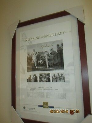 Roger Bannister Signed Limited Edition Print 4 Minute Mile