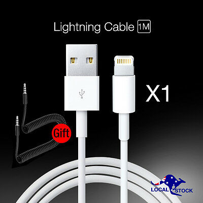 1 x Genuine Apple iPhone 5s 6s 7 plus Lightning USB Data Charging Cable + Audio