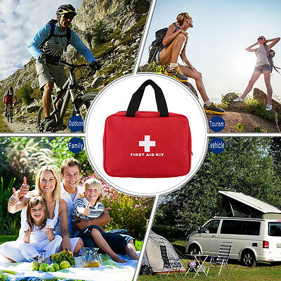 Portable Sports Camping Home Medical Emergency Survival First Aid Kit Bag WL