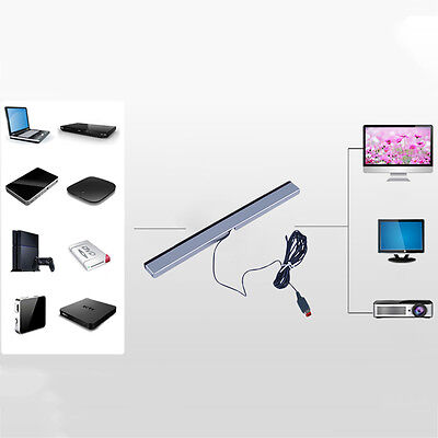 New Wired Infrared Ray Sensor Bar for Nintendo Wii Remote Controller WL