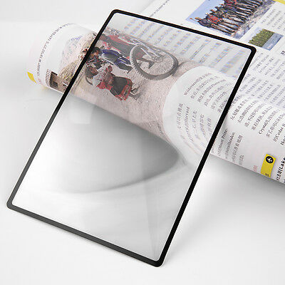 3X PVC Magnifier Sheet 180X120mm Book Page Magnifying Reading Glass Lens WL