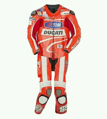 Valentino Rossi Ducati Corse Motorbike Motorcycle Racing 1&2 Piece Leather Suit