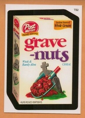 Wacky Packages TS2 bonus card Grave Nuts